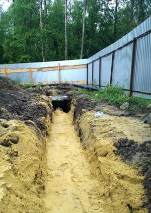 Строительство и прокладка канализации